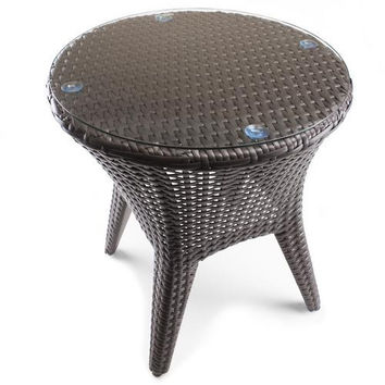 """18"""" Resin Wicker Patio Accent Table"""