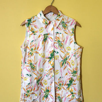 Shop Hawaiian Print Blouse On Wanelo