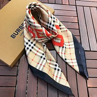 Burberry New fashion plaid letter print scarf