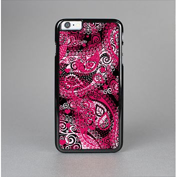 The Pink & White Paisley Pattern V421 Skin-Sert for the Apple iPhone 6 Plus Skin-Sert Case