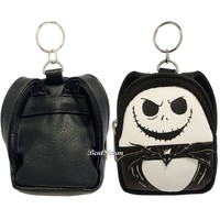 Licensed cool Disney The Nightmare Before Christmas Jack Mini Backpack Keychain Key Chain NEW
