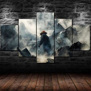 Firefighter Hero Rubble Five Piece Canvas