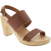 Old Navy Womens Double Strap Block Heel Sandals