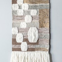 Jujia Wool Sequin Accent Boho Wall Hanging
