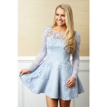 Through The Looking Glass Alice Blue Dress