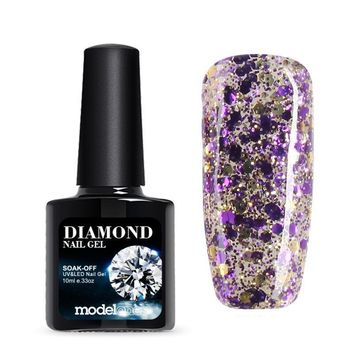 10ML Purple Color Glitter Gel Polish UV Nail Gel 3D Nail Art Sparkles Nail Gel Polish