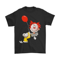 QIYIF IT Pennywise Snoopy Georgie And Charlie Brown Stephen King Shirts