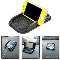 Black Car Dashboard Sticky Pad Mat Anti Non Slip Gadget Mobile Phone GPS Holder , phone mount [7941862407]