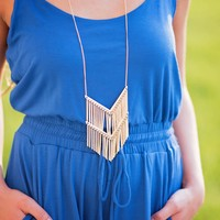 Best Fringe Forever Chevron Dangling Necklace