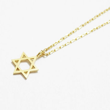 Star of David pendant necklace, Star of David necklace, Star of David Jewellery, Dainty Star of David Necklace, Geometric necklace, Gift