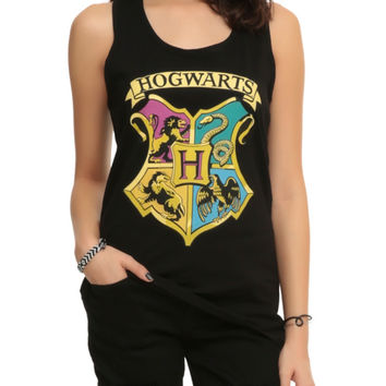 Harry Potter Hogwarts Crest Girls Tank Top