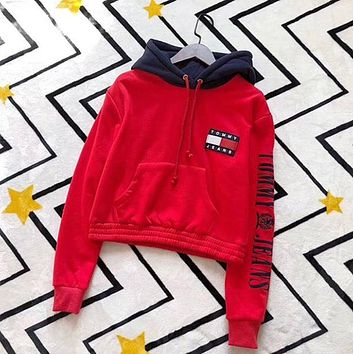 Tommy Hilfiger Women Hot Hoodie Cute Sweater