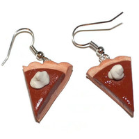 Pumpkin Pie Fake Food Earrings