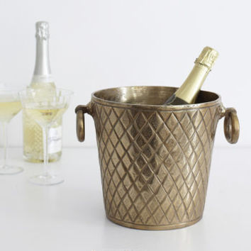 Gold Metal Champagne Bucket