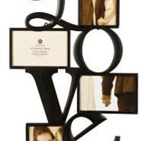 "Burnes of Boston 545840 Metal ""LOVE"" Collage Frame, 2-4X6 & 2-6X4 Openings"