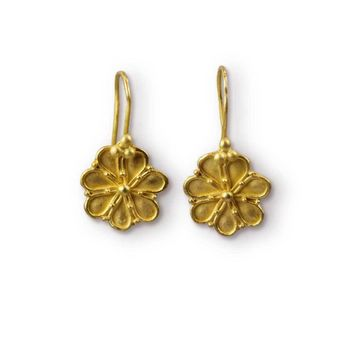 ALL NEW Limited Edition - 22k Granulated Greek Rosette Earrings