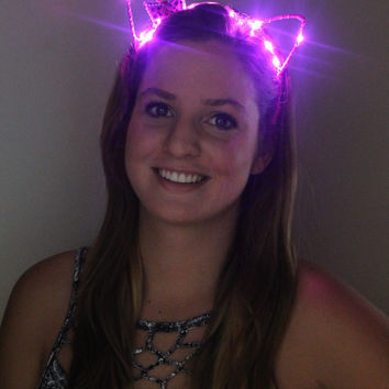 LED Headband - Cat Ears, Bunny Ears, and others- rollin titties FREE SHIPPING!!