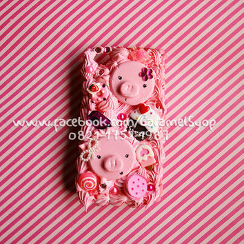 Whipped Cream Kawaii Decoden case for iPhone 3 / 3Gs / 4 / 4s / 5