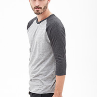 Heathered Colorblock Raglan Tee Heather