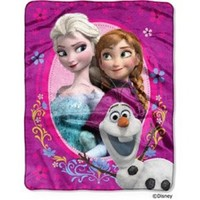 "Disney Frozen Spring Zing Silk Touch Throw (40"" x 50"" )"