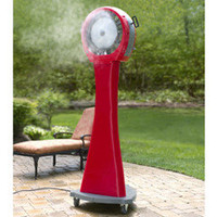 The 21 Gallon Portable Misting Fan - Hammacher Schlemmer
