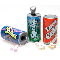 Soda Cans Fizzy Candy Six-Packs: 12-Piece Box