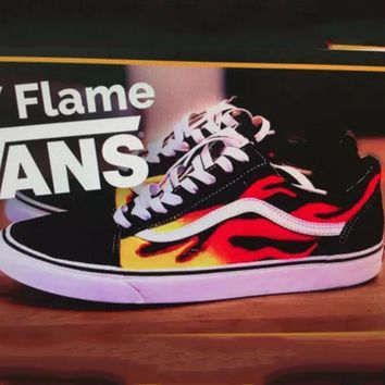 Vans Classics Flame Brothers Canvas Old Skool Flats Sneakers Spo 394e63ff6f7a