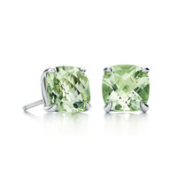 Tiffany & Co. - Tiffany Sparklers green quartz earrings in sterling silver.