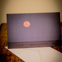 Pink Moon 5x7 Blank Greeting Card Perfect for all Occasions