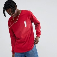 Crooked Tongues Long Sleeve T-Shirt With Lighter Print In Burgundy at asos.com