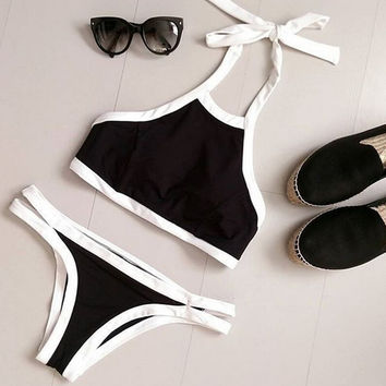 Unique Simple swimwear Set Sports Swimsuit Two Piece for Summer Gift