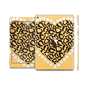 The Yellow Heart Shaped Leopard Skin Set for the Apple iPad Pro