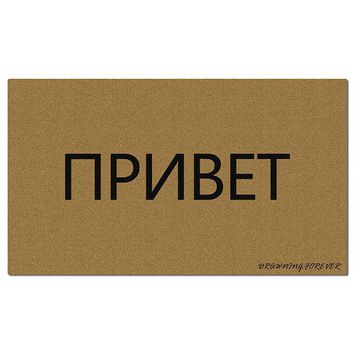 Autumn Fall welcome door mat doormat Funny   Hello Welcome Entrance Mat for Home Office Decorative  Indoor/Outdoor Top Fabric Non-Slip Rubber Backing AT_76_7