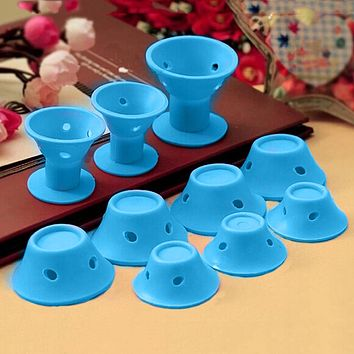 10pcs/set Soft Silicone Hair Care Rollers