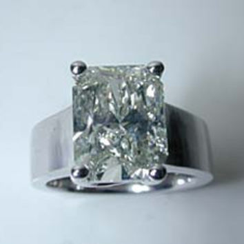 6.00ct H-VS2 Radiant Cut Diamond Engagement Ring  JEWELFORME BLUE