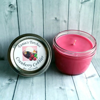 8oz Cranberry Cobbler Soy Candle