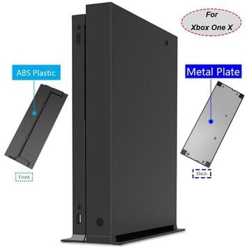 Vertical Stand with ABS Platic Front + Metal Bottom Plate For Xbox One X Console