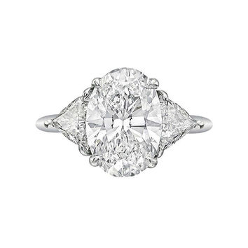Tiffany & Co. 3.09 Carat Oval-Cut Diamond Engagement Ring