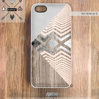 iPhone5 Case Wood Print iPhone 4s Case Chevron iPhone Case, Geometric Cases, iPhone 4 Case - Soft Silicone Case or Hard Plastic iPhone Case