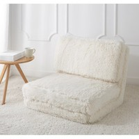 Mainstays Long Hair Faux Fur Flip Chair, Multiple Colors - Walmart.com