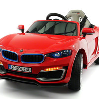 BWM Style Kids Electric Ride-On Toy Car For Kids | Red