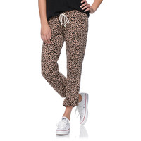 Obey Girls Lola Clay Cheetah Print Sweatpants at Zumiez : PDP