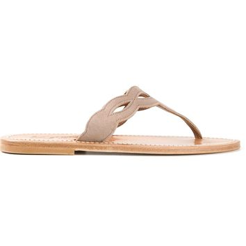K. Jacques Cut Out Flat Sandals