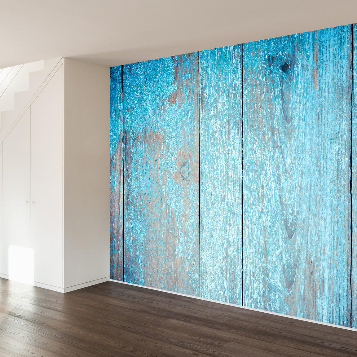 Painted barn wood wall mural decal from walls need love for Mural on wood
