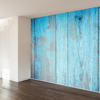 Painted Barn Wood Wall Mural Decal
