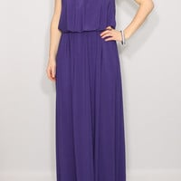 Purple Bridesmaid dress maxi dress Spaghetti strap dress