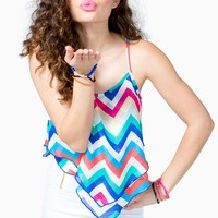 Multi Bright Chevron Cami