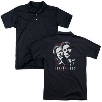 X Files - Mulder & Scully (Back Print) Mens Regular Fit Polo