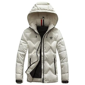 ADIDAS 2018 winter new trend women's fashion casual down jacket White