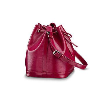 CREYONIA Authentic Louis Vuitton Epi Leather Petit No¨¦ NM Shoulder Bag Handbag Fuchsia Article: M40676